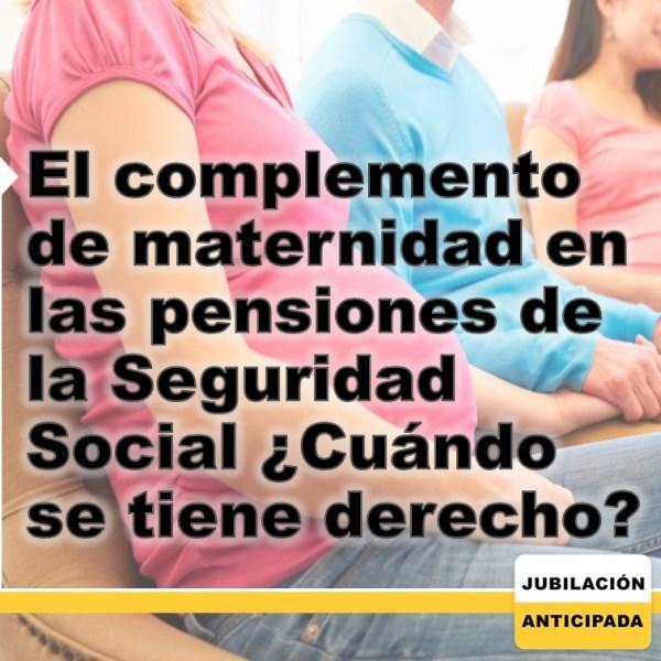 El complemento de maternidad en las pensiones de la Seguridad Social: ¿cuándo se tiene derecho?